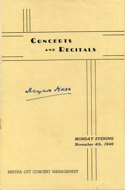Chicago, IL: Bertha Ott Concert Management, 1946. Book. Very good condition. Paperback. Signed by Au...