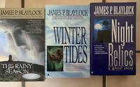 Ghosts Trilogy    1. Night Relics   2. Winter Tides  3. The Rainy Season by James P Blaylock