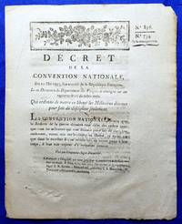 French National Convention Decree 856/734. 05.11.1793, Signed in Ink Original