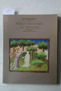 Sale 19 June 1990: Western Manuscripts and Miniatures.