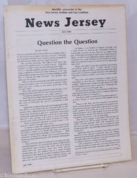 image of News Jersey: monthly newsletter of the NJ Lesbian & Gay Coalition; July, 1984: Question the Question