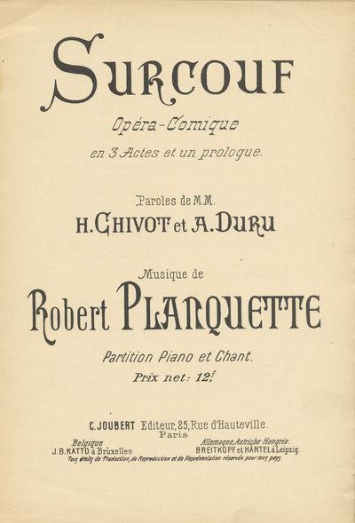 Paris: C. Joubert , 1900. Large octavo. 1f. (recto half title, verso blank), 1f. (recto title, verso...