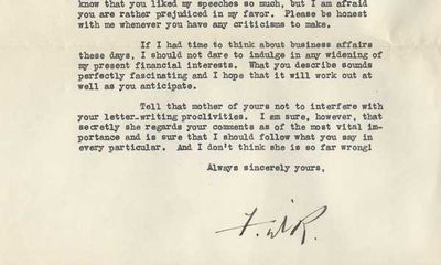 """10/10/32. He is so busy, """"Things are moving too rapidly…""""Franklin Roosevelt's nomination for..."""