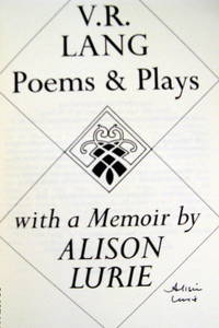 V.R.Lang Poems & Plays