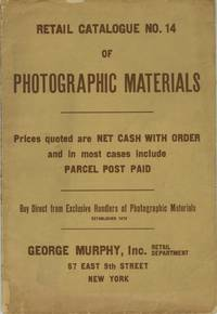 RETAIL CATALOGUE NO. 14 OF PHOTOGRAPHIC MATERIALS...; [cover title]
