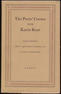 The poet's corner och Karin Boye : Några minnen från 1920-talets Uppsala