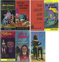"""FANTASY READER"" 7 VOLUMES: Alien Carnival (SIGNED) / Food for Demons / The Great God Pan / The Maker of Moons / The Man Eater (aka Ben, King of Beasts) / Kings of Horror / The Fearsome Island"