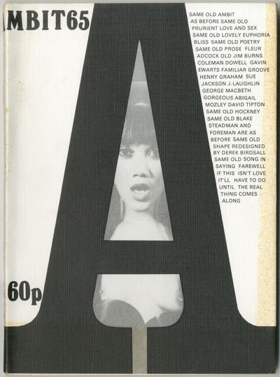 London: Ambit, 1976. Softcover. Near Fine/Very Good. Magazine. Cover photo of Euphoria Bliss by O.T....