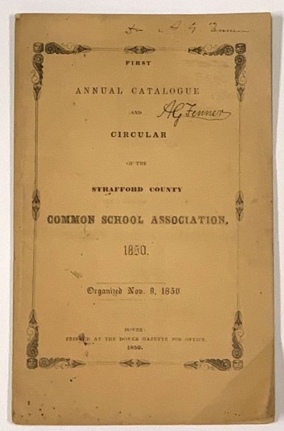 FIRST ANNUAL CATALOGUE And CIRCULAR...