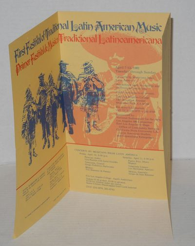Los Angeles: California State University/Latin American Studies, 1981. Six panel mailer/brochure wit...