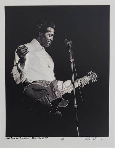 Chicago, 1979. Limited edition (1 of 6). Description: Chuck Berry at Navy Pier in Chicago, Illinois....