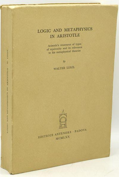 Padova: Editrice Antenore, 1970. Soft Cover. Very Good binding. # 5 in the Studia Aristoletlica seri...