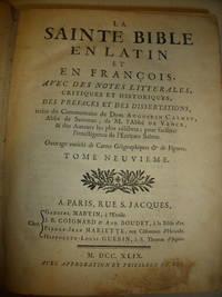 La Sainte Bible en Latin et an Francois (volume IX )