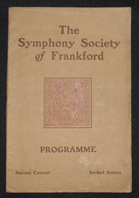 image of The Symphony Society of Frankford Programme: Second Concert, Second Season