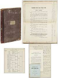 [Journal and Minutes Book]: Heathfield Park Lawn Tennis Club Minutes