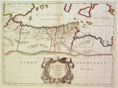 Amsterdam: Mortier, Pieter II, 1723. unbound. very good. Map. Engraving with hand coloring. Image me...