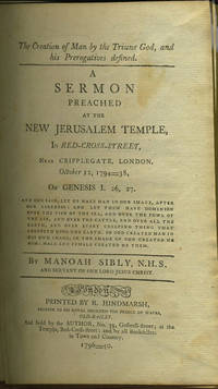 """Twelve Sermons Preached at the New Jerusalem Temple, in Red-Cross-Street, near Cripplegate, London [with] 1903 pamphlet, """"A Brief View of the New Jerusalem"""""""