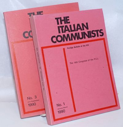 Rome: PCI, 1990. Two issues of the paperback journal, very good. The foreign bulletin of the PCI. Is...