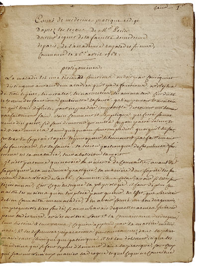 ,: 1762., 1762. Small 4to. pp. Manuscript in student hand. Original quarter calf-backed marbled boar...