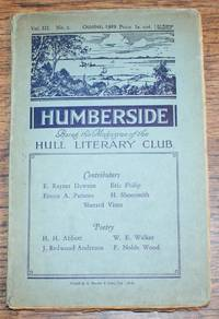 Humberside, Being the Magazine of the Hull Literary Club, Vol. III No. 2. October 1929