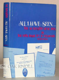 Wilmington: Serendipity Press, 1975. cloth, dust jacket. 8vo. cloth, dust jacket. (xiv), 266 pages. ...