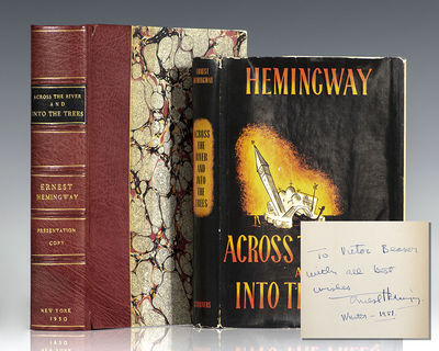 New York: Charles Scribner's Sons, 1950. First edition of Hemingway's first novel since For Whom the...