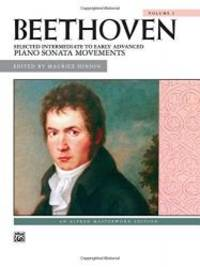 Beethoven -- Selected Intermediate to Early Advanced Piano Sonata Movements, Vol 1 (Alfred...