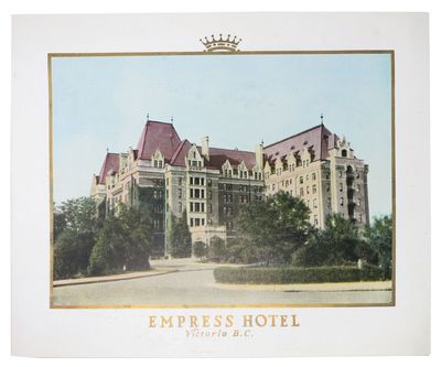 (n.p.): Canadian Pacific Hotels, 1929. 1st Printing. White card stock, wrappers, gilt lettering to u...