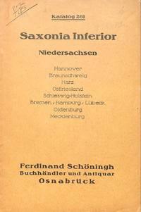 Catalogue 261/c.1930: Saxonia inferior. Niedersachsen.
