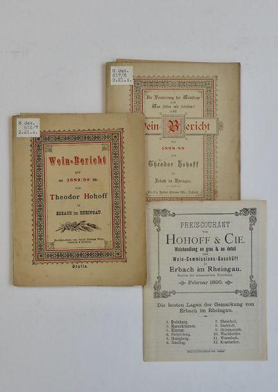 Wein-Bericht pro 1889/90 and 1890/91