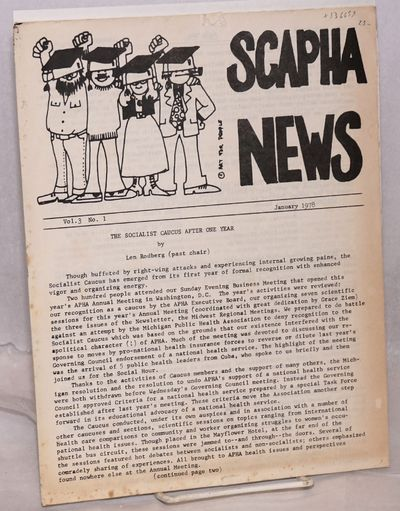 New York: SCAPHA, 1978. Three issues of the newsletter, on 8.5x11 inch sheets, 4, 6 and 4 pages resp...