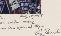 George H.W. Bush Inscribes a Photograph to Lee Atwater, the Man Who Made Him President It shows him accepting the Republican presidential nomination in 1988, and is signed that very day