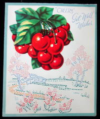 Get Well Card with recipe for Easy Cherry Tarts... School project - a fictious diary of a Northern School Girl Staying with her Southern Cousin During the Civil War (1861-1865)