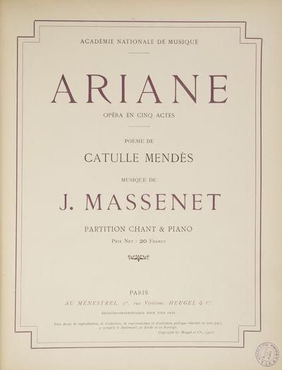 Paris: Au Ménestrel, Heugel & Cie. , 1906. Folio. Full dark brown cloth, titling gilt to spine. 1f....
