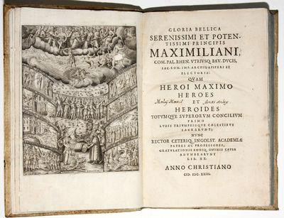 Ingolstadii: Ex officina typographica G. Haenlini, 1623. Hardcover. Near Fine. 4to . (17) ff., 388 p...