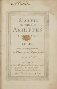 Annete[!] et Lubin, Pastorale, mise en vers par M. Marmontel... Le prix est de 36 sols