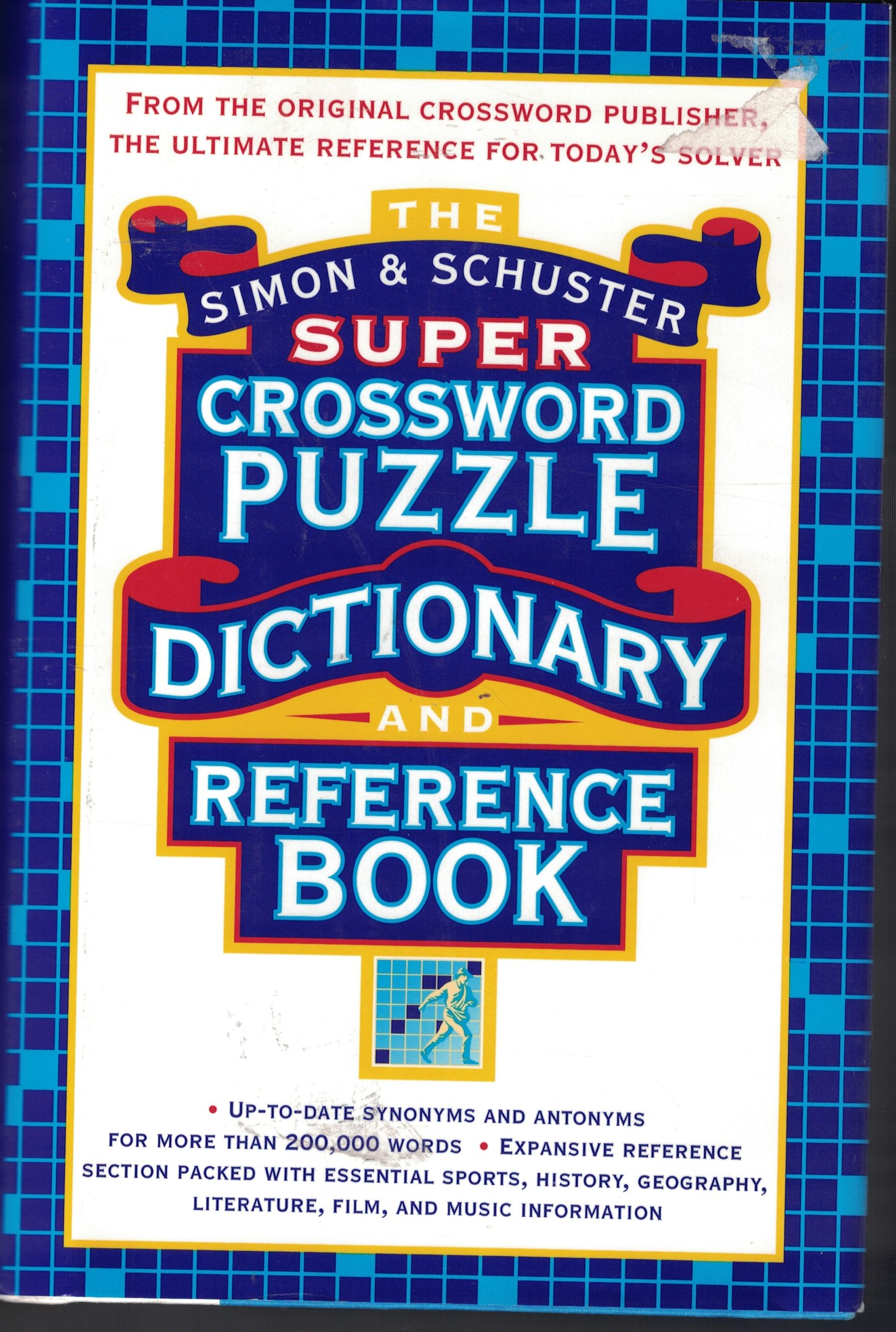 Super Crossword Puzzle Dictionary And Reference Book by Simon and Schuster,    Hardcover,   20th Printing,   20,   from Ye Old Bookworm SKU 20