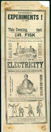 Wonderful experiments! . . . Electricity . . .  [Broadside]