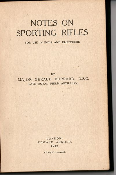 Notes on Sporting Rifles for use in...