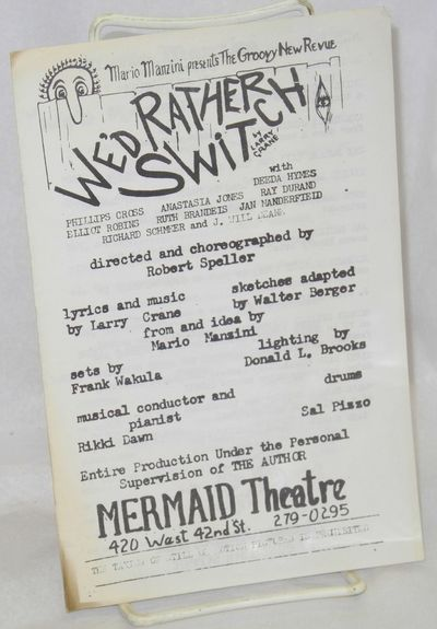 New York: Mermaid Theatre. 4p. 5.5x8.5 inches, cheaply printed program/playbill for the infamous bur...