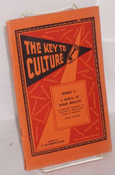 Girard, KS: Haldeman-Julius Publications, 1935. 55p., wraps, paper browned. The key to culture, no. ...