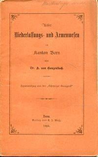 Ueber Niederlassungs- und Armenwesen im Kanton Bern.