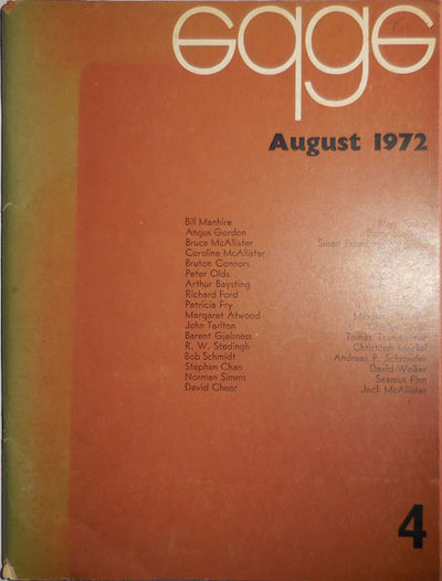 Christchurch: Edge, 1972. First edition. Paperback. Very Good. Tall, wide stapled wrappers. Issue nu...