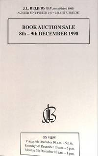 Sale 8th and 9th December 1998: Literature and Language, Picture,  Postcards, Geography, History, Cartography, Atlases, Botany, Biology,  Varia, Maps, Prints, Posters and Photographs, Early Books,...