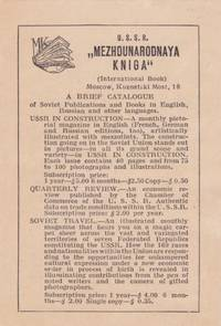 A Brief Catalogue of Soviet Publications and Books in English, Russian and Other Languages