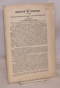 image of Verwandtschaftsbezeichnungen und verwandtenheirat; Extract from Zeitschrift für ethnologie, v. 46