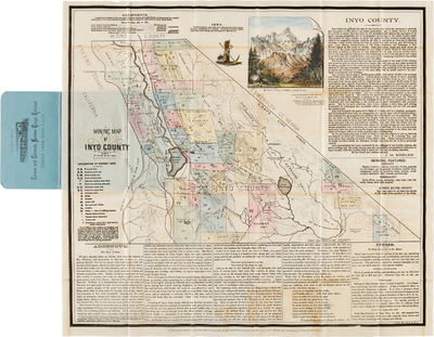 San Francisco: Lith. Britton & Rey, 1884. Colored lithographed map, 16 x 17 1/2 inches. Includes a c...