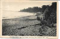 image of Lake Erie, Looking West from, Sugar Loaf Farm, Port Colborne, ONT, Canada on White Border Monochrone Postcard - circa 1940s