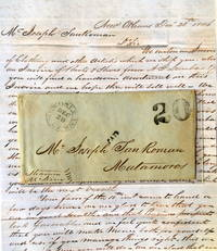 """A letter regarding the earliest business operations  of Joseph """"Jose"""" San Ramon,  a Hispanic entrepreneur who launched his career during the Mexican War and became one  of the wealthiest tycoons in 19th century Texas"""