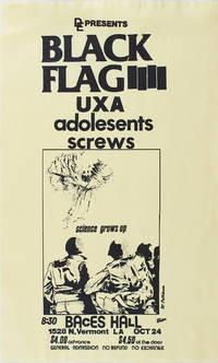 Black Flag at Baces Hall (1980 Concert Flyer)